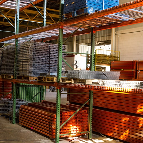 Pallet racking and wire shelving